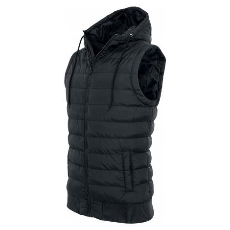 Urban Classics - Small Bubble Hooded Vest - Waistcoat - black