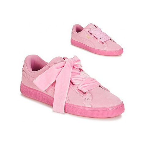 Puma SUEDE HEART RESET WN'S women's Shoes (Trainers) in Pink