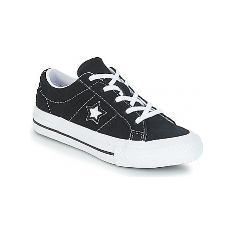 Converse ONE STAR OX girls's Children's Shoes (Trainers) in Black