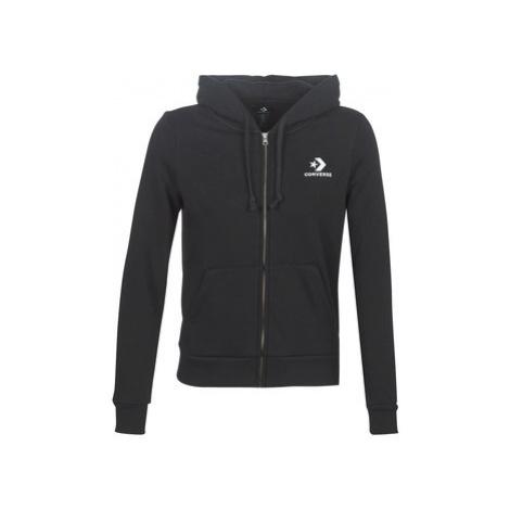 Converse STAR CHEVRON EMBROIDERED FZ HOODIE women's Sweatshirt in Black