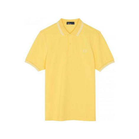 Fred Perry Twin Tipped Polo 1964 Yellow men's Polo shirt in Yellow