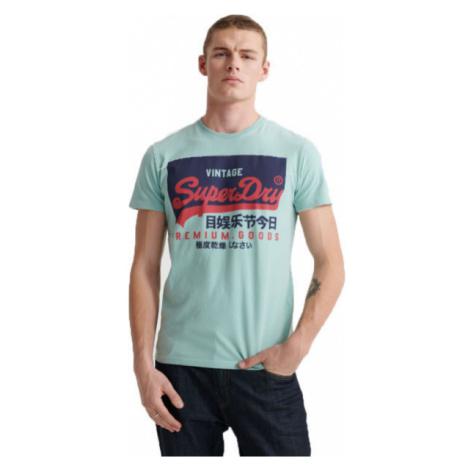 Superdry VL O TEE green - Men's T-Shirt