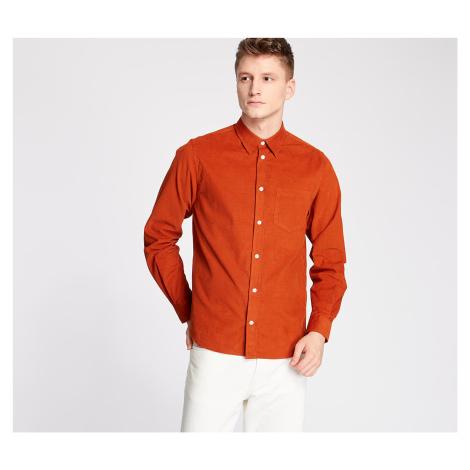 Norse Projects Osvald Cordbury Shirt Cadmium Orange