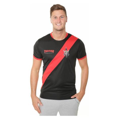 T-Shirt Thrasher Thrasher Futbol Jersey - Black/Red - men´s