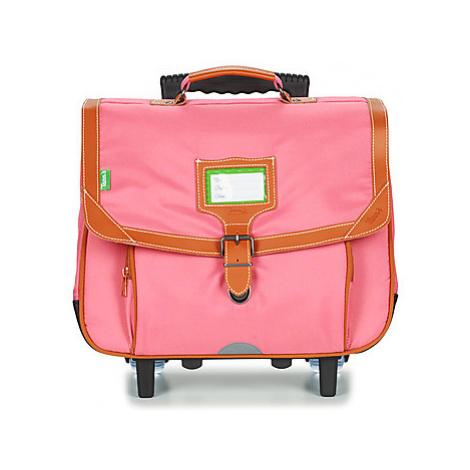 Tann's PORTOFINO TROLLEY CARTABLE 38 CM girls's Children's Rucksack in Pink