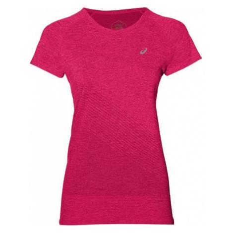 Asics SEAMLESS SS TEXTURE pink - Women's sports T-shirt