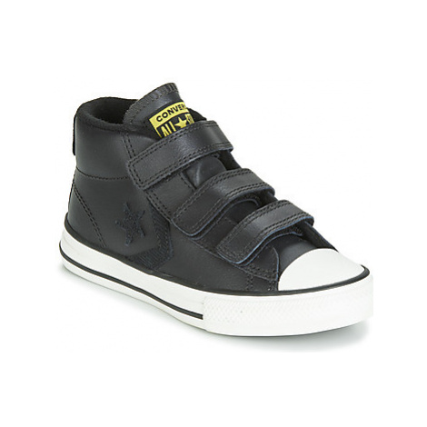 Converse STAR PLAYER 3V ASTEROID LEATHER HI girls's Children's Shoes (High-top Trainers) in Blac