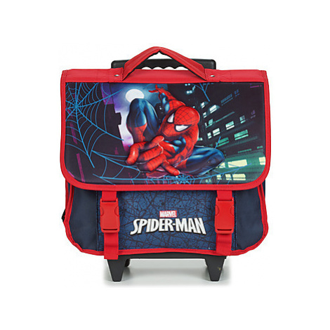 Disney SPIDERMAN CARTABLE A ROULETTES 38CM boys's Children's Rucksack in Black