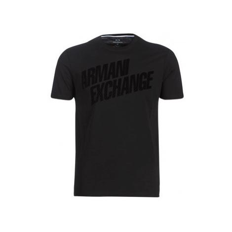 Armani Exchange HOURBE men's T shirt in Black