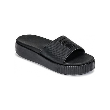 Puma PLATFORM SLIDE WNS EP women's Mules / Casual Shoes in Black