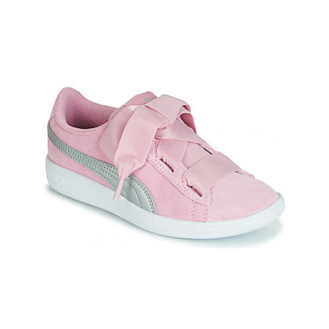 Puma PS PUMA VIKKY RIBBON.LILAC girls's Children's Shoes (Trainers) in Pink