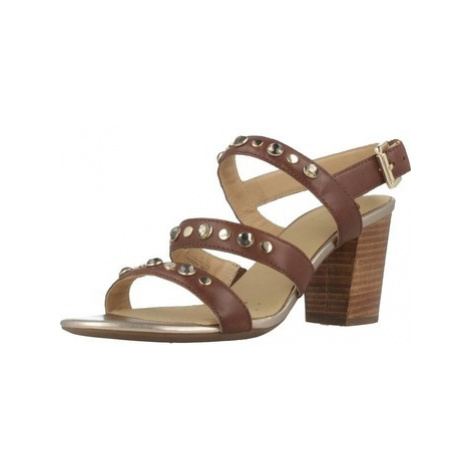 Geox D EUDORA H women's Sandals in Brown