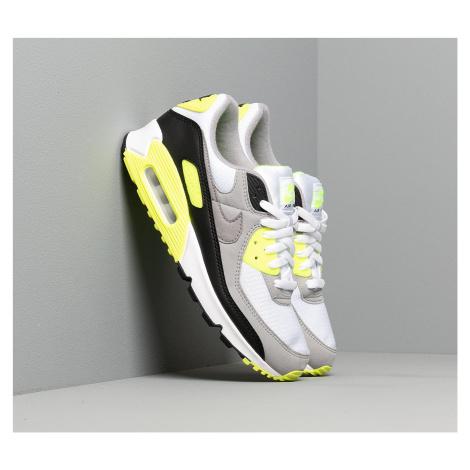 Nike Air Max 90 White/ Particle Grey-Volt-Black
