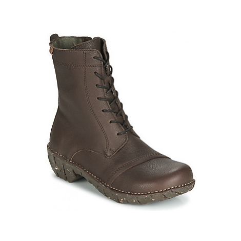 El Naturalista YGGDRASIL women's Mid Boots in Brown