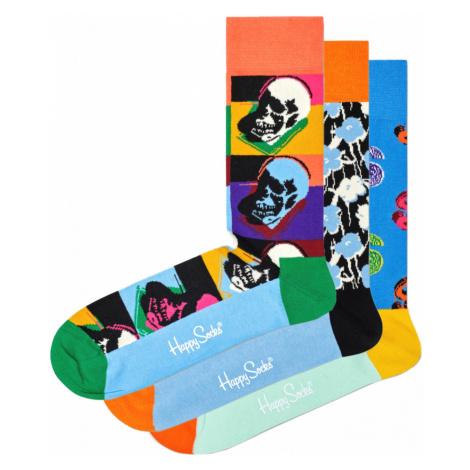 Happy Socks Andy Warhol Set of 3 pairs of socks Colorful