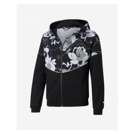 Puma Alpha Full-Zip Kids Sweatshirt Black
