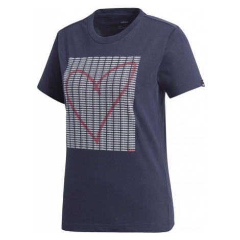 adidas W ADI HEART T dark blue - Women's T-shirt