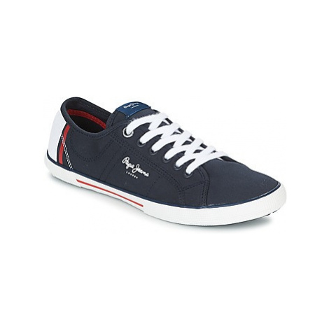 Pepe jeans ABERMAN PRINT men's Shoes (Trainers) in Blue