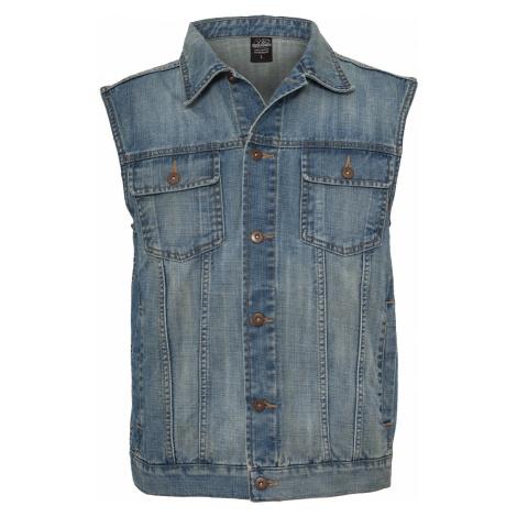 Urban Classics - Denim Vest - Waistcoat - light blue