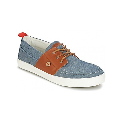 Faguo CYPRESSBOAT COTTON/LEATHER men's Boat Shoes in Blue