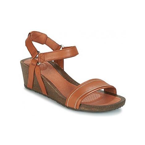 Teva YSIDRO STITCH WEDGE women's Sandals in Brown