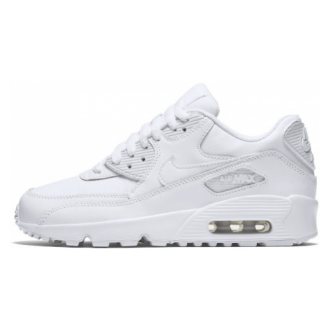 Nike Air Max 90 Leather Older Kids' Shoe - White