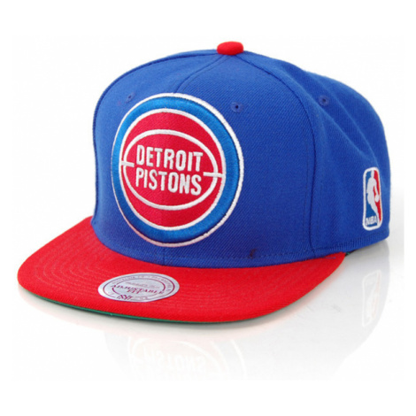 Mitchell & Ness XL Logo Detroit Pistons 2 Tone Snapback