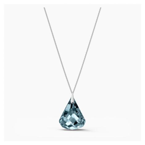Spirit Necklace, Blue, Rhodium plated Swarovski