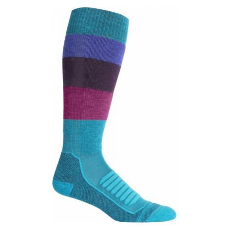 Icebreaker SKI MEDIUM OTC blue - Women's ski socks Icebreaker Merino
