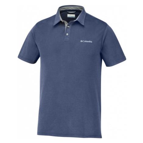 Columbia NELSON POINT POLO blue - Men's polo shirt