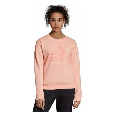 sweatshirt adidas Performance Must Haves Badge Of Sport Crew - Glow Pink - women´s