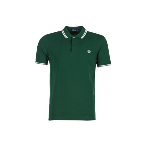 Fred Perry TWIN TIPPED FRED PERRY SHIRT men's Polo shirt in Green