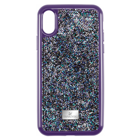 Glam Rock Smartphone Case with Bumper, iPhone® X/XS, Purple Swarovski