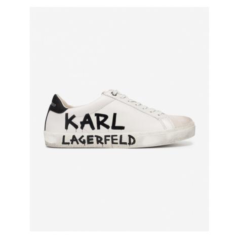 Karl Lagerfeld Skool Brush Logo Sneakers White