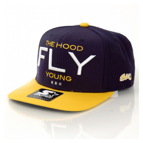 Streetz Iz Watchin Fly Young Snapback Navy Yellow Starter