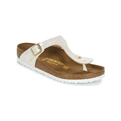 Birkenstock GIZEH women's Flip flops / Sandals (Shoes) in Gold