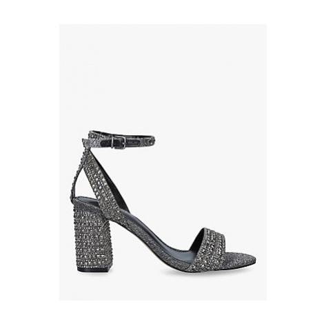 Carvela Kianni Stud Jewelled Block Heel Sandals, Grey Pewter