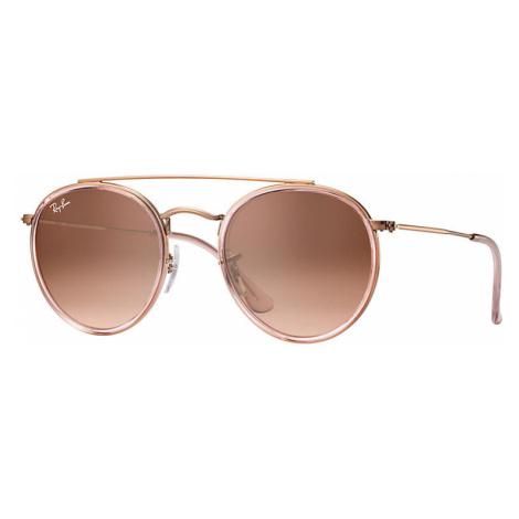 Ray-Ban Round double bridge Man Sunglasses Lenses: Brown, Frame: Bronze-copper - RB3647N 9069A5