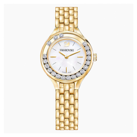 Lovely Crystals Watch, Metal bracelet, Gold-tone PVD Swarovski