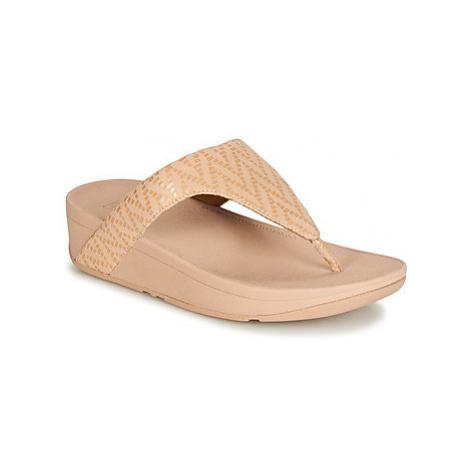 FitFlop LOTTIE CHEVRON SUEDE women's Flip flops / Sandals (Shoes) in Pink