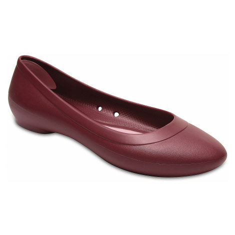 shoes Crocs Lina Flat - Garnet