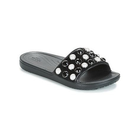 Crocs SLOANE TIMELESS PEARL SLIDE women's in Black