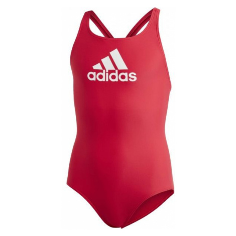 adidas BADGE OF SPORTS SWIMSUIT GIRLS red - Girls' swimsuit