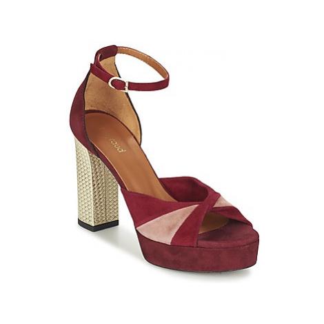 Heyraud EVELINE women's Sandals in Red