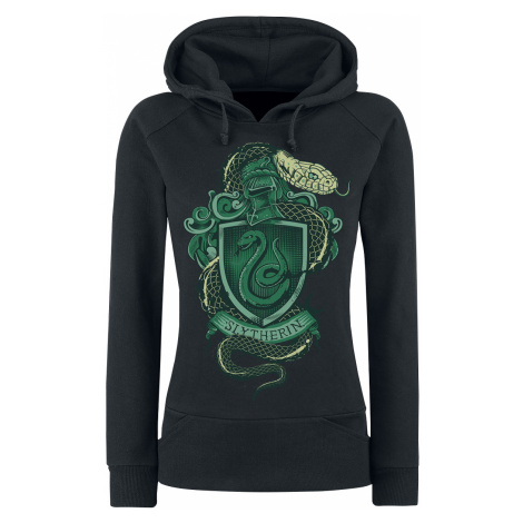 Harry Potter - Slytherin - Girls hooded sweatshirt - black