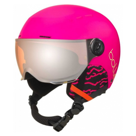 Bolle QUIZ VISOR pink - Children's helmet with visor