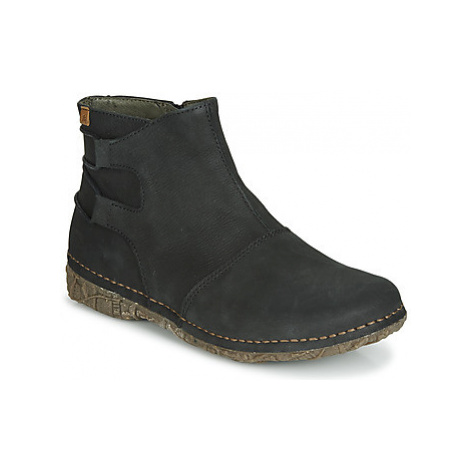 El Naturalista ANGKOR women's Mid Boots in Black