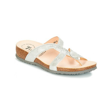 Think CRIZY women's Flip flops / Sandals (Shoes) in Silver