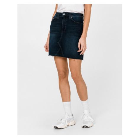 Tommy Jeans Raw Hem Skirt Blue Tommy Hilfiger