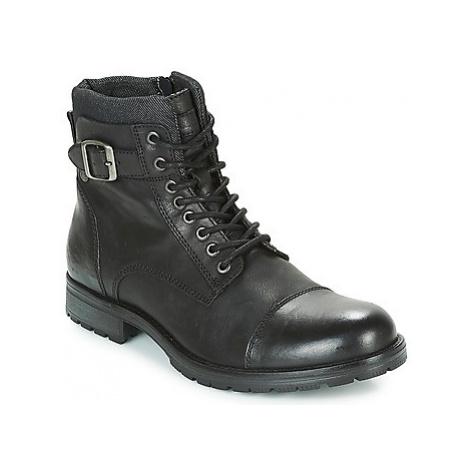 Jack Jones ALBANY LEATHER men's Mid Boots in Black Jack & Jones
